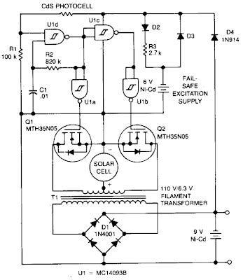 Simple Solar Cell Battery Charger Circuit Diagram