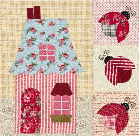 shabby fabrics sweetheart houses 168 best images about house quilt blocks on pinterest free pattern christmas villages and