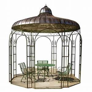 kiosque jardin fer With salon de jardin en aluminium castorama 2 abri de jardin gloriette hexagonale
