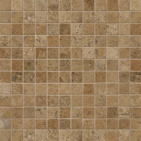 walnut dark honedfilled  travertine mosaics
