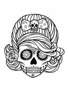 Tete De Mort Mexicaine Dessin : coloriage mandala tete de mort laborde yves ~ Melissatoandfro.com Idées de Décoration