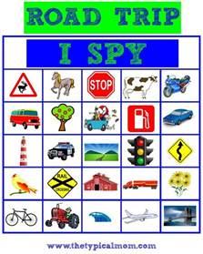 I Spy Road Trip Game Printables