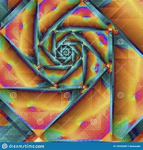 Colorful, Geometric, Spiral, Fractal, Illustration, To