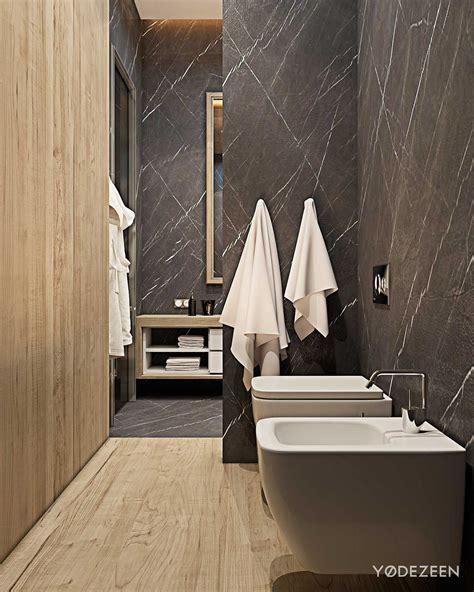 Moderne Badezimmer Holz by Modern Bathroom Wood Panel Interior Design Ideas