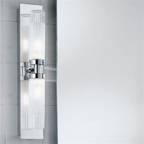 franklite glass chrome  mirror ip fixed arm twin