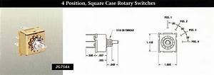 Indak Switches 4 Position  Square Case Rotary Switches