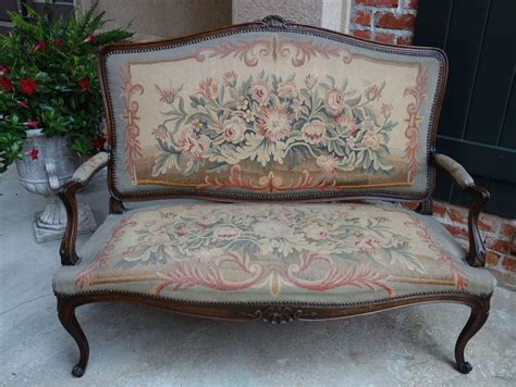 Settees And Benches by Antique Carved Oak Louis Xv Settee Sofa Bench