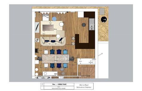 aménagement salon salle à manger cuisine amenagement salon salle a manger 20m2 3 plan de cuisine