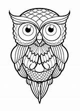 Owl Burning Patterns Simple Drawings Drawing Coloring Flight Owls Note9 Mandalas sketch template
