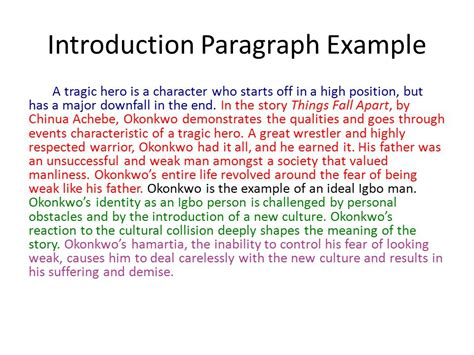 introduction paragraph template character sketch exle essays for nutrition