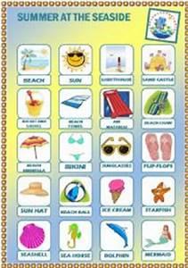 English teaching worksheets: At the seaside