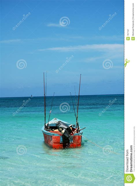 Boat License Jamaica by Jamaican Fishing Boat Royalty Free Stock Photography