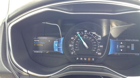 2013 Ford Fusion Wrench Warning Light On