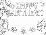 Birthday Happy Coloring Trolls Printable Poppy Troll Cards Printables Template Blank Sheets Raskrasil Disney English Invitations Animated Congratulations Lego sketch template