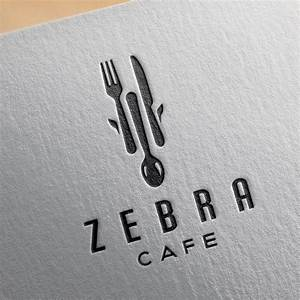 SOLD – Zebra Cafe – Fork Spoon Knife Logo | Logo Cowboy