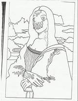 Mona Lisa Coloring Pages Drawing Mean Dog Escalator Printable Monalisa Drawings Getdrawings Getcolorings Mentallo Frank Scissors Running sketch template