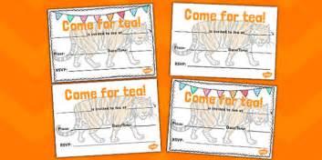 tiger    tea  invitation templates