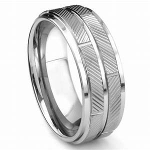 tungsten carbide diamond cut wedding band ring With tungsten diamond wedding rings