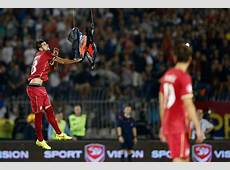 SerbiaAlbania Euro 2016 Qualifier Violent Brawl After