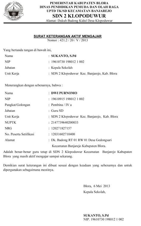 Contoh Surat Pernyataan Kerja by Contoh Surat Pernyataan Untuk Guru Contoh Surat Keterangan