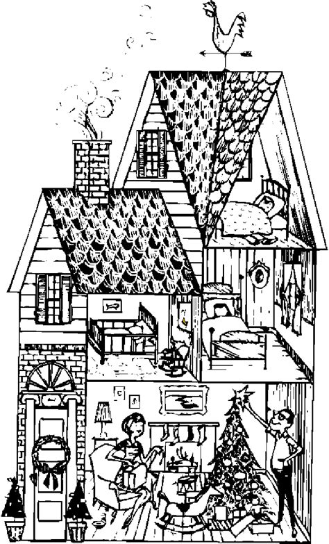 Houses to Color and Print for adults | girls and kids