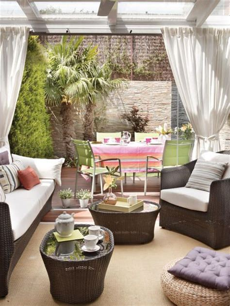 cortinas  terrazas decoracion de interiores fachadas