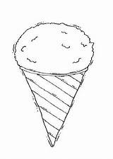 Coloring Ice Cream Sandwich Summer Pages Scoop sketch template