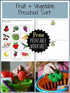 preschool fruit and vegetable sort i crafty things