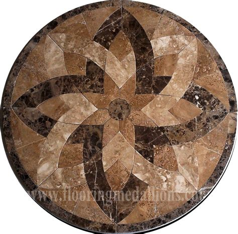 36 floor tile marble medallion 2002