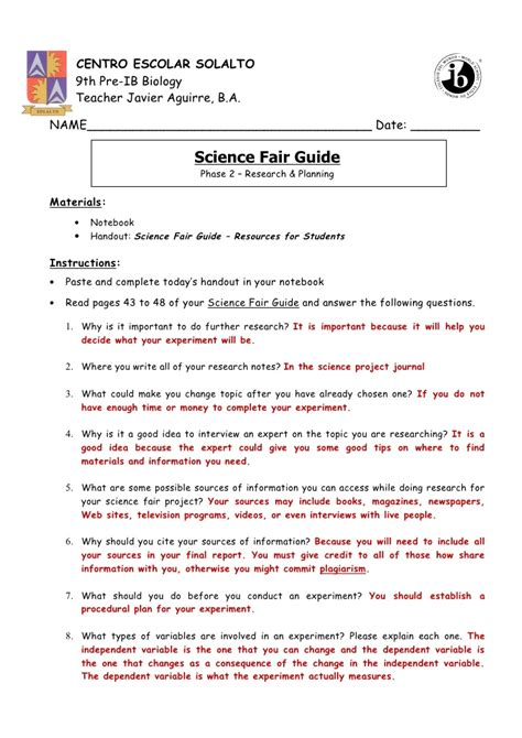 phase  research planning pp   answer key