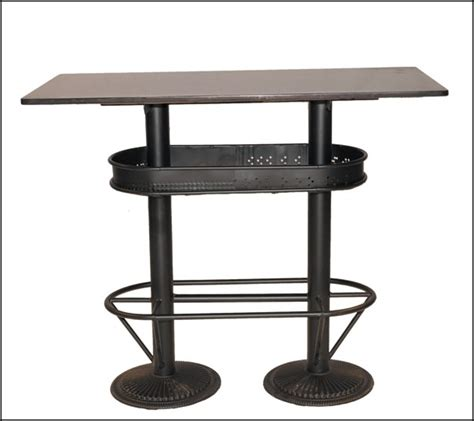 table haute bar cuisine table de bar industrielle