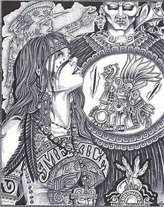 Aztec woman by Jimmy Tarango | Chicano arte | Pinterest ...