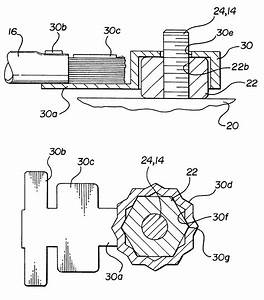 patent us6250975 anti rotation ground terminal for weld With wiring nuts
