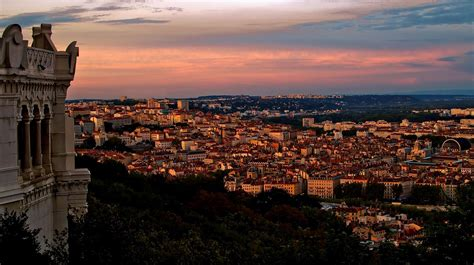 sunset  lyon france wallpapers  images wallpapers