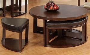 Oxford Creek Cocktail Table And 4 Pc Faux Leather Ottoman