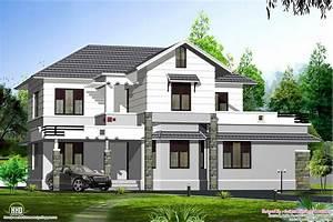 Kerala Style Sloping Roof Villa Design Kerala Home