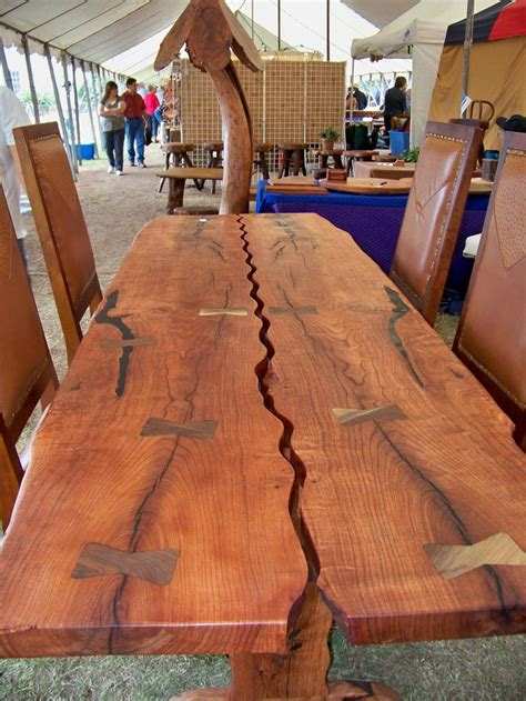 magnificent mesquite table furniture butterfly joints