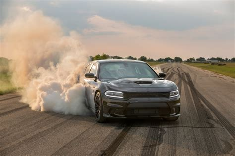 HPE1000 Charger Hellcat Burnout   Hennessey Performance