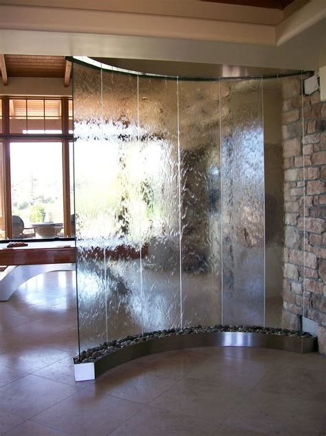 glass water feature 25 best ideas about indoor water features on pinterest indoor waterfall indoor waterfall