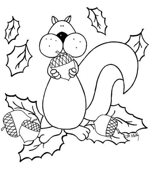 Kleurplaat Herfst Eekhoorn by Jaargetijden Herfst Kleurplaten Eekhoorn