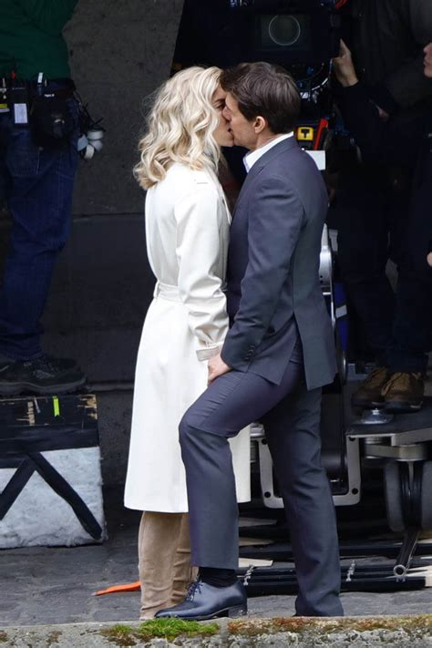 tom cruise kisses  star vanessa kirby  mission