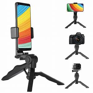 Phone Tripod, Mini Tripod for Cell Phone Camera, Tabletop Holder Tripod Stand with Universal ...