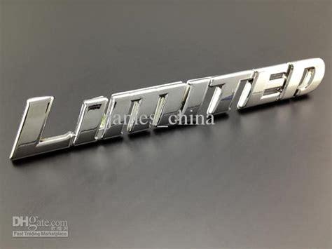 2018 Excellent Limited Metal Car Badge Emblem Logo Sticker
