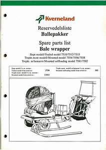 Kverneland Bale Wrapper Parts Manual 7510 7512 7515 7554