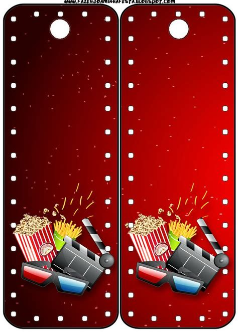 fiesta de cine invitaciones  tarjeteria  imprimir gratis manualidades