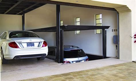 pin  james marcelo  garages home car lift garage