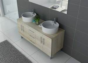 Meuble Double Vasque Sur Pied : meuble double vasque sur pieds dis989sc meuble de salle de bain sur pied double vasque distribain ~ Melissatoandfro.com Idées de Décoration