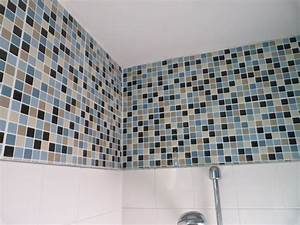 Carrelage adhesif salle de bain castorama idee deco for Carrelage adhesif salle de bain avec mur image led