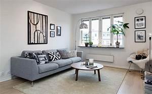Deco salon gris canape accueil design et mobilier for Meuble de salle a manger avec deco murale style scandinave