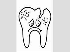 Ausmalbilder Zähne, Zahnpflege und Zahnfee